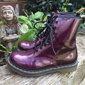 Dr Martens Pascal Purple Metallic Combat Boots